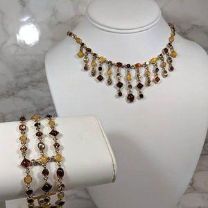 Necklace & Bracelet Set Autumn Colors